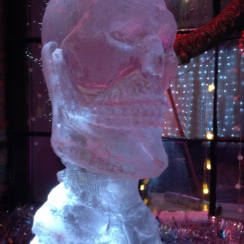Gruesome Day of the Dead Skull Vodka Luge from Passion for Ice