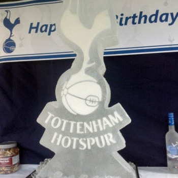 Tottenham Hotspur Vodka Luge from Passion for Ice
