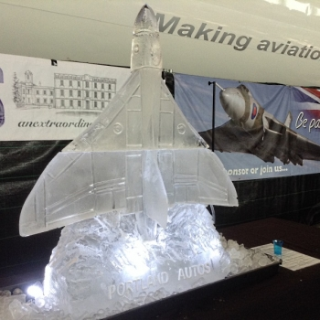 Side view of Vulcan Bomber Vodka Luge from Passion for Ice
