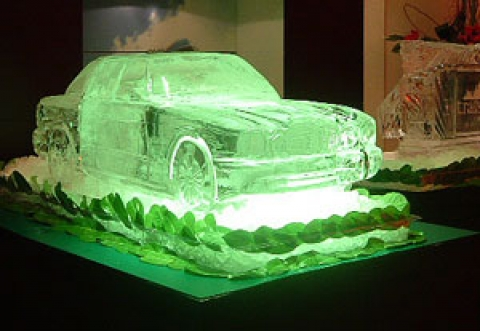 Aston Matin Ice Sculpture from Passion for Ice