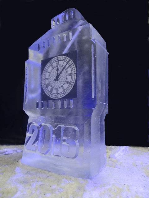 Big Ben Vodka Luge from Passion form Ice