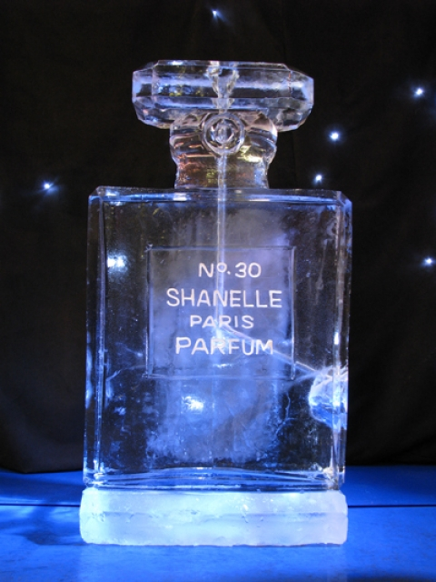 Channel Perfume Bottle Vodka Luge from Passion for Ice