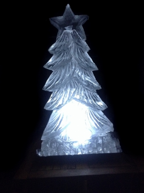 Christmas Tree Vodka Luge from Passion for Ice