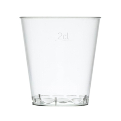 Clear Platsic Shot Glasses from Passion for Ice