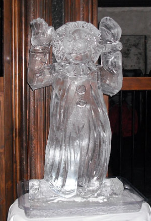 Circus Clown Vodka Luge from Passion for Ice