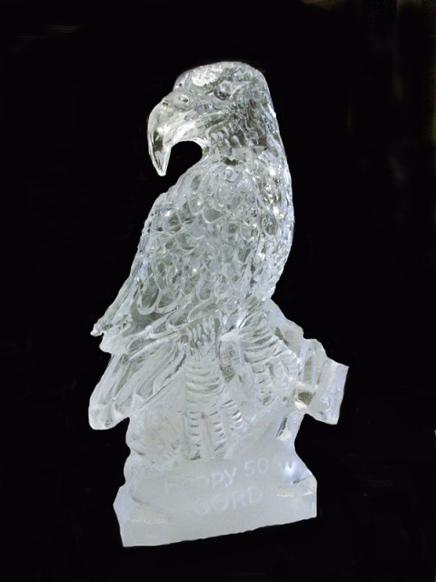Eagle Portrait Vodka Luge from Passion for Ice
