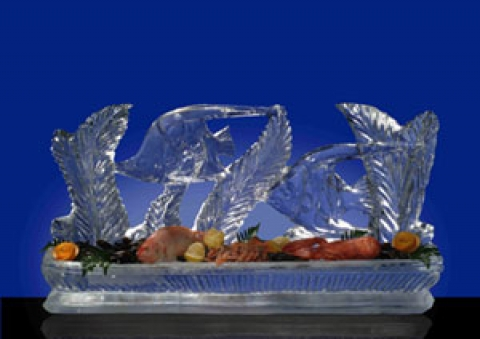 Fish Display Ice Sculpture Centre Table Piece