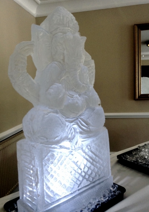Lord Ganesha Ice Sculpture from Passion for Ice