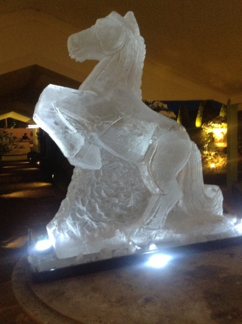 Horse rearing Vodka Luge from Passion for Ice
