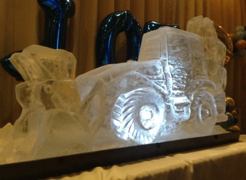 JCB 4CX Digger Vodka Luge from Passion for Ice