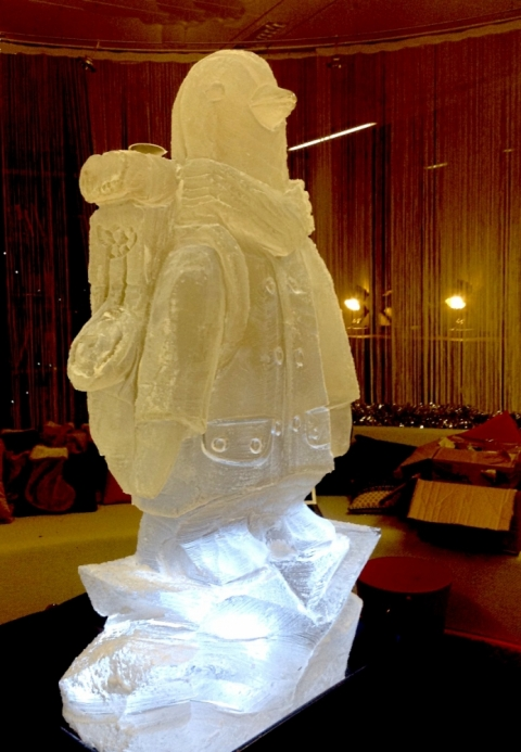 British Gas Penguin Vodka Luge from Passion for Ice