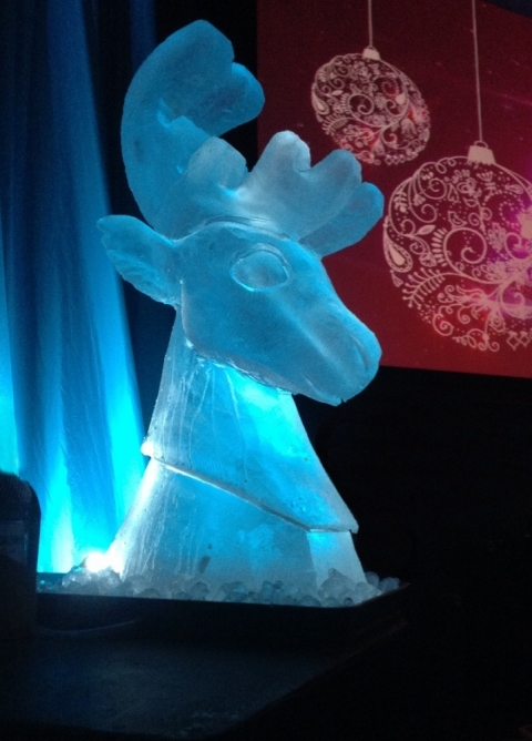 Reindeer Head Vodka Luge from Passion for Ice