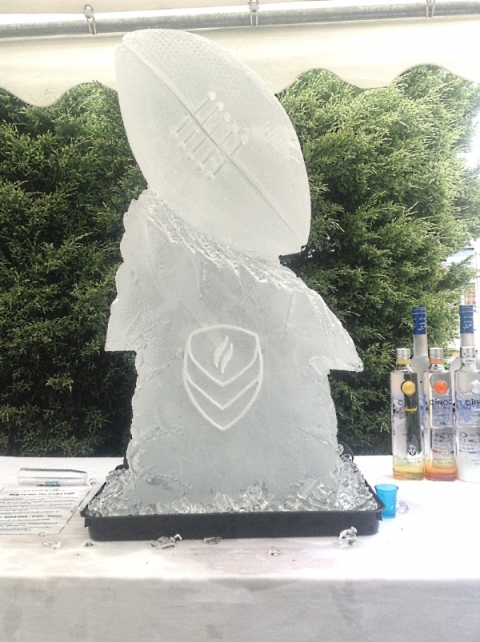 Rugby Ball Vodka Luge from Passion for Ice