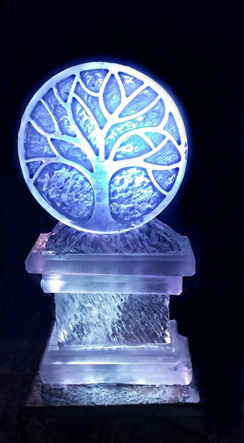 Silver Tree ice melt ice sculpture from Passion for Ice