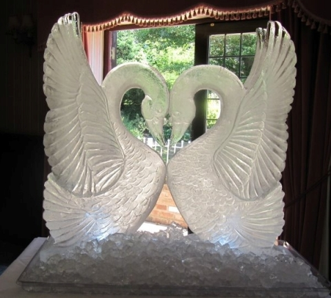 Double Swan Wedding Ice Sculpture from Passion for Ice