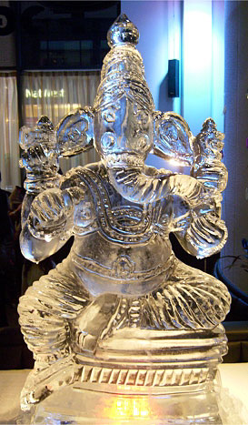 Ice sculpture for Wedding - a Lord Ganesh