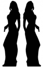 Two Female Secret Agent Silhouettes  from Passion for Ice