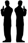 Two Male Secret Agent Silhouettes  from Passion for Ice